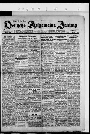 Deutsche allgemeine Zeitung vom 08.02.1926