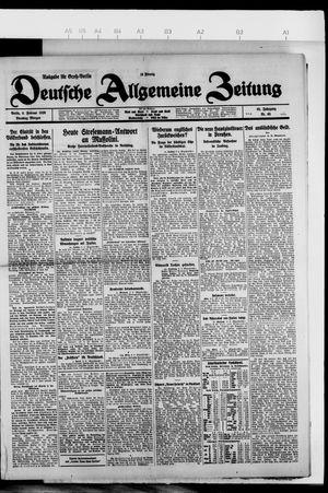 Deutsche allgemeine Zeitung on Feb 9, 1926