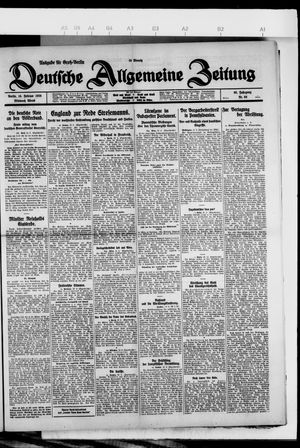 Deutsche allgemeine Zeitung vom 10.02.1926