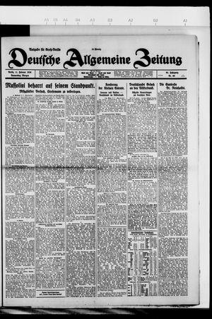 Deutsche allgemeine Zeitung on Feb 11, 1926
