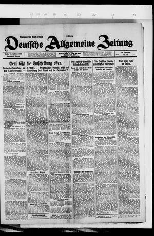 Deutsche allgemeine Zeitung vom 13.02.1926