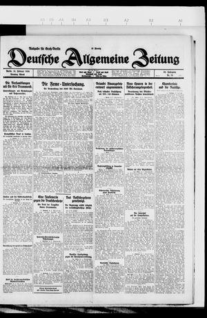 Deutsche allgemeine Zeitung vom 16.02.1926