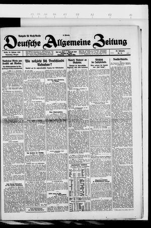Deutsche allgemeine Zeitung vom 18.02.1926
