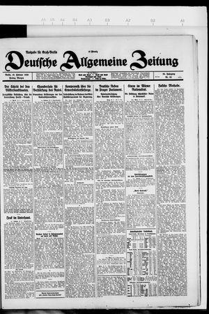 Deutsche allgemeine Zeitung vom 19.02.1926