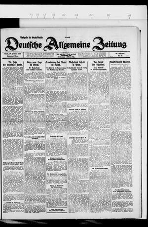 Deutsche allgemeine Zeitung vom 20.02.1926