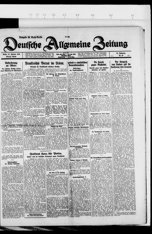 Deutsche allgemeine Zeitung vom 22.02.1926