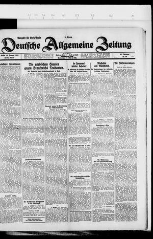 Deutsche allgemeine Zeitung vom 26.02.1926
