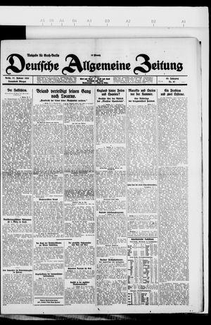 Deutsche allgemeine Zeitung on Feb 27, 1926