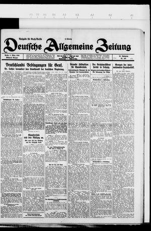 Deutsche allgemeine Zeitung vom 03.03.1926