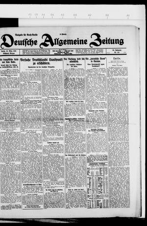 Deutsche allgemeine Zeitung vom 10.03.1926