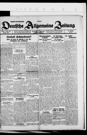 Deutsche allgemeine Zeitung vom 15.03.1926