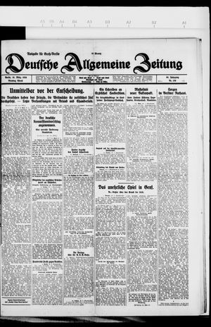 Deutsche allgemeine Zeitung on Mar 16, 1926