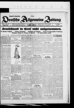 Deutsche allgemeine Zeitung vom 17.03.1926