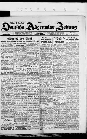 Deutsche allgemeine Zeitung on Mar 18, 1926