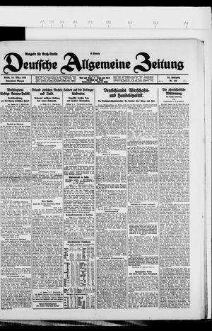 Deutsche allgemeine Zeitung vom 20.03.1926