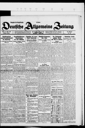 Deutsche allgemeine Zeitung vom 21.03.1926