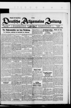 Deutsche allgemeine Zeitung vom 22.03.1926