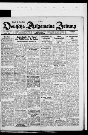Deutsche allgemeine Zeitung vom 29.03.1926