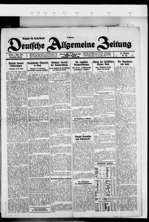 Deutsche allgemeine Zeitung vom 01.04.1926