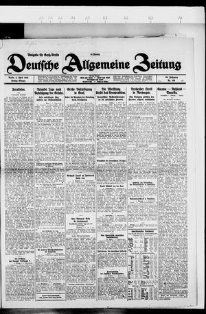 Deutsche allgemeine Zeitung vom 02.04.1926