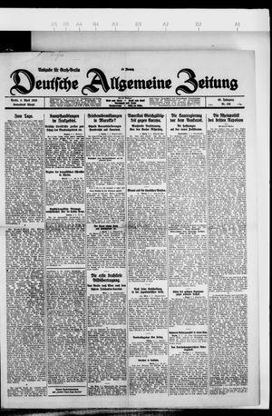 Deutsche allgemeine Zeitung on Apr 3, 1926