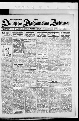 Deutsche allgemeine Zeitung vom 06.04.1926