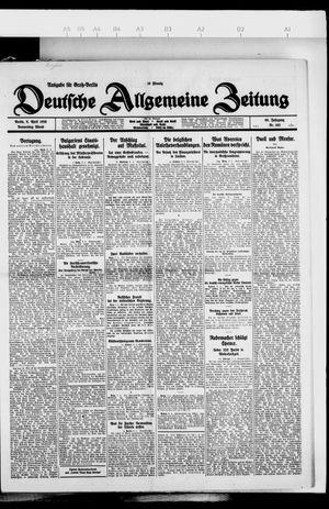Deutsche allgemeine Zeitung vom 08.04.1926
