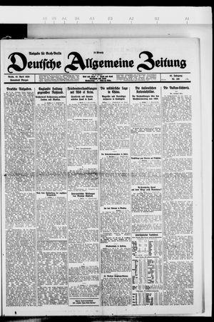 Deutsche allgemeine Zeitung vom 10.04.1926