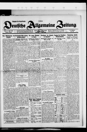Deutsche allgemeine Zeitung vom 11.04.1926