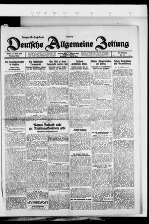 Deutsche allgemeine Zeitung vom 13.04.1926