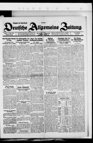 Deutsche allgemeine Zeitung vom 14.04.1926