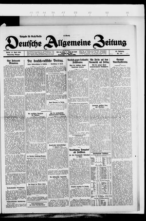 Deutsche allgemeine Zeitung vom 15.04.1926
