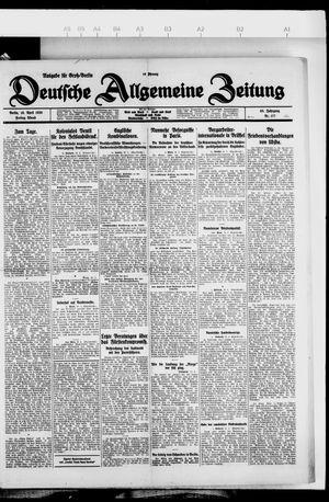 Deutsche allgemeine Zeitung vom 16.04.1926