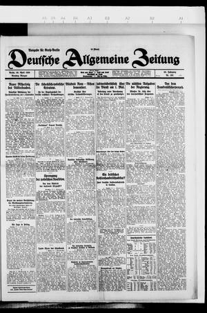 Deutsche allgemeine Zeitung vom 20.04.1926