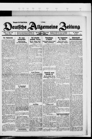 Deutsche allgemeine Zeitung vom 21.04.1926