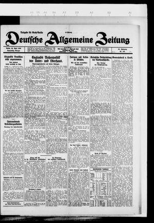 Deutsche allgemeine Zeitung vom 22.04.1926