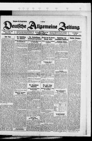 Deutsche allgemeine Zeitung vom 23.04.1926