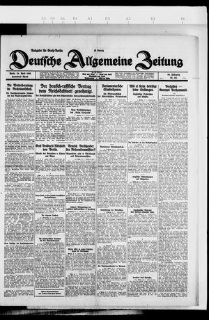 Deutsche allgemeine Zeitung on Apr 24, 1926
