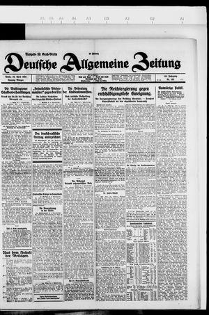 Deutsche allgemeine Zeitung vom 25.04.1926