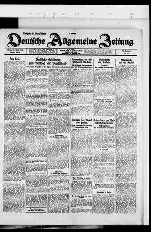 Deutsche allgemeine Zeitung vom 26.04.1926