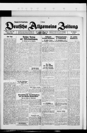 Deutsche allgemeine Zeitung vom 27.04.1926