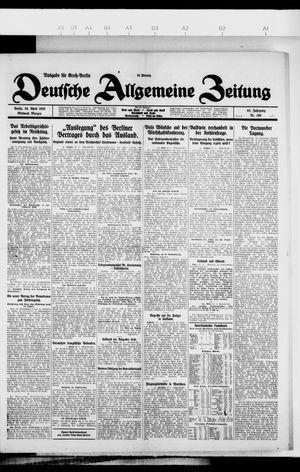 Deutsche allgemeine Zeitung vom 28.04.1926