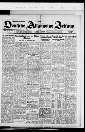 Deutsche allgemeine Zeitung vom 29.04.1926