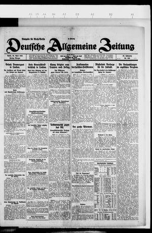 Deutsche allgemeine Zeitung vom 30.04.1926