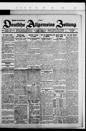 Deutsche allgemeine Zeitung vom 01.05.1926