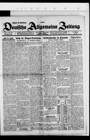 Deutsche allgemeine Zeitung vom 06.05.1926