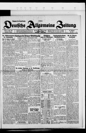 Deutsche allgemeine Zeitung vom 08.05.1926