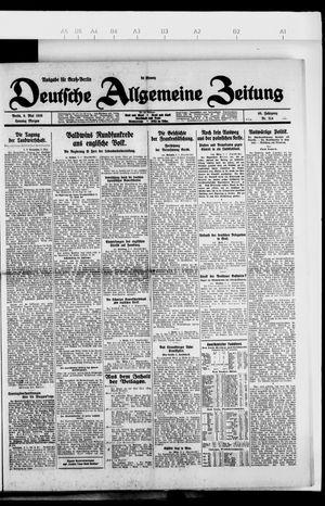 Deutsche allgemeine Zeitung vom 09.05.1926