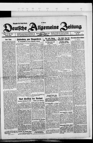 Deutsche allgemeine Zeitung vom 10.05.1926