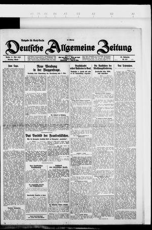 Deutsche allgemeine Zeitung vom 11.05.1926